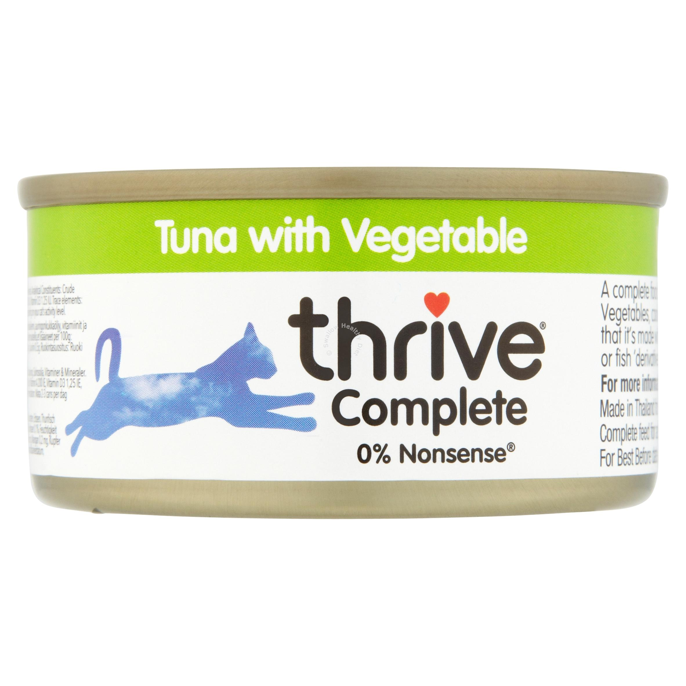 Pet project thrive complete cat food 100 real meat fish for Cuisines completes