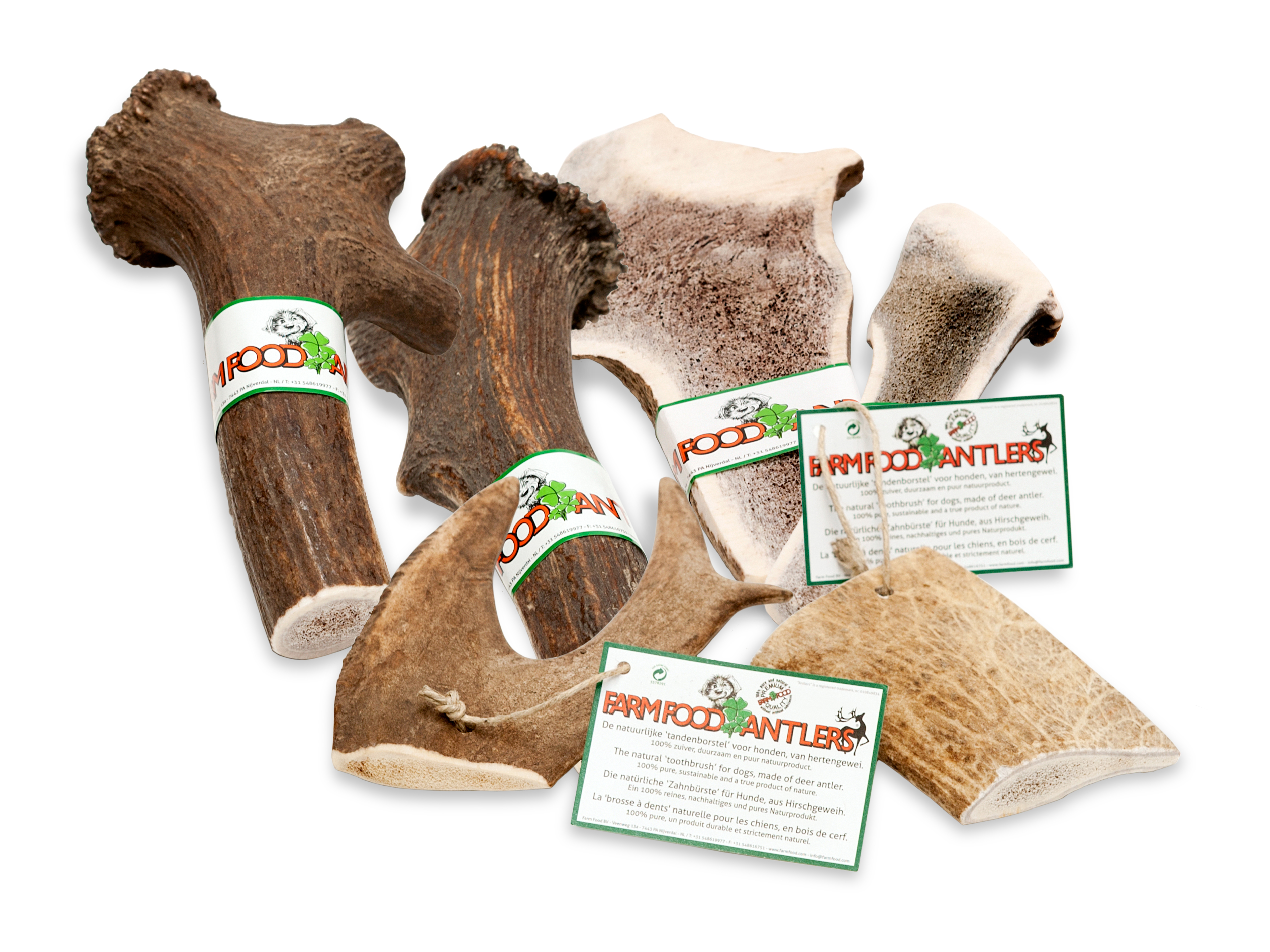 Details about Farmfood Natural Stag Antler Chew Dog Toy bar Healthy long  lasting marrow