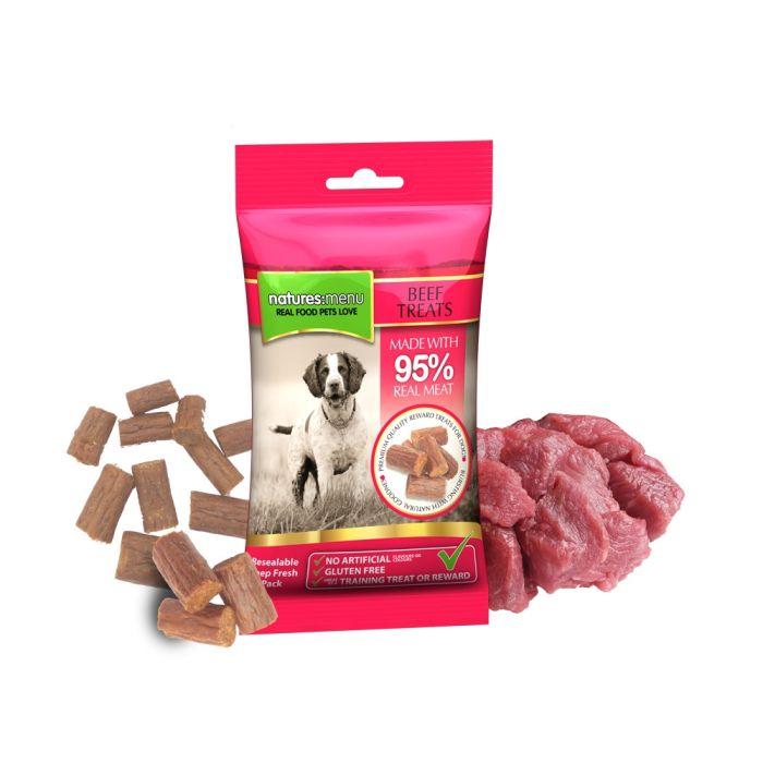 Beef Moist Dog Treats 60g