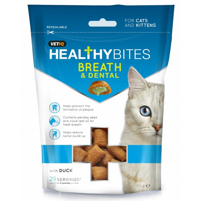 HealthyBites Breath & Dental Care Treats For Cats & Kittens 65g