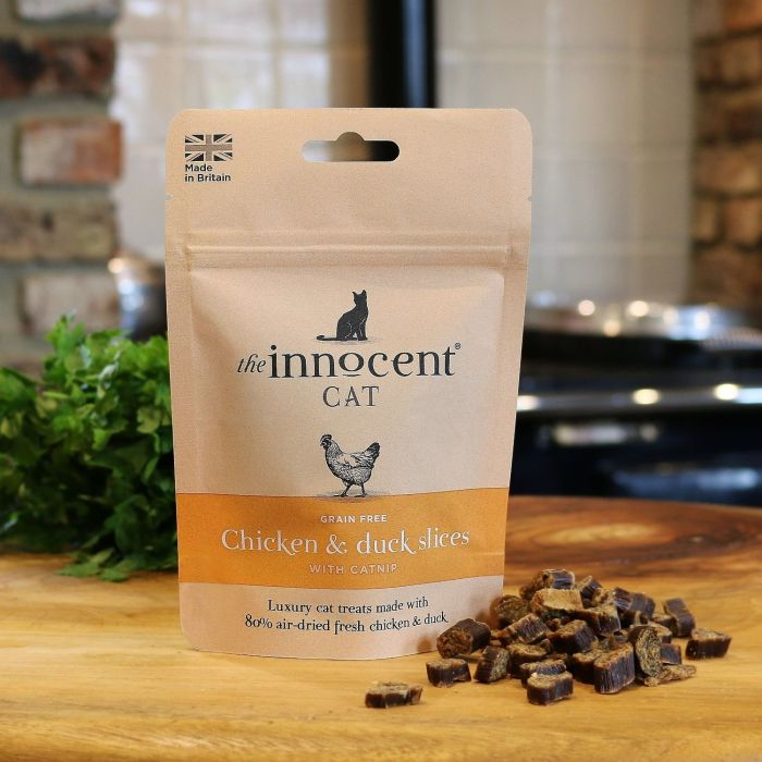 Chicken & Duck Slices with Catnip Luxury Treats for Cats 70g