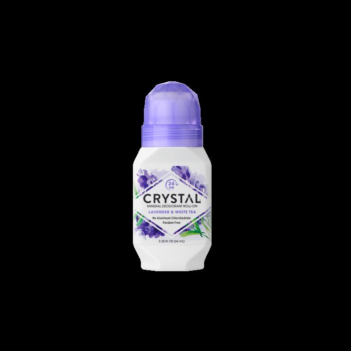 Crystal Mineral Deodorant Roll On Lavender & White Tea 66ml