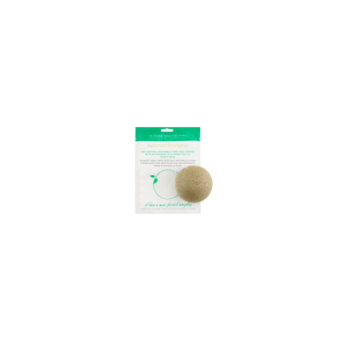 100% Natural Konjac Vegetable Fibre with Green Clay - Facial Puff Sponge Oily Skin