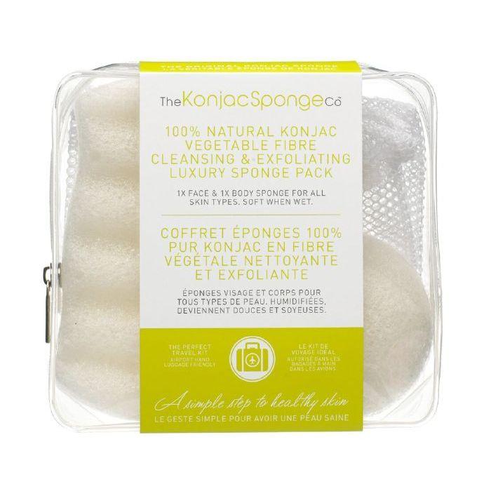 100% Natural Konjac Vegetable Fibre - Cleansing & Exfoliating Luxury Sponge Pack