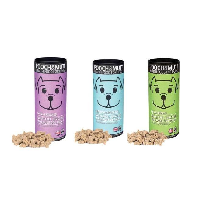 Pooch & Mutt Assorted Bundle, 3 x Treats 125g 1 x Calm & Relaxed, 1 x Digestion & Wind, 1 x Fresh Breath