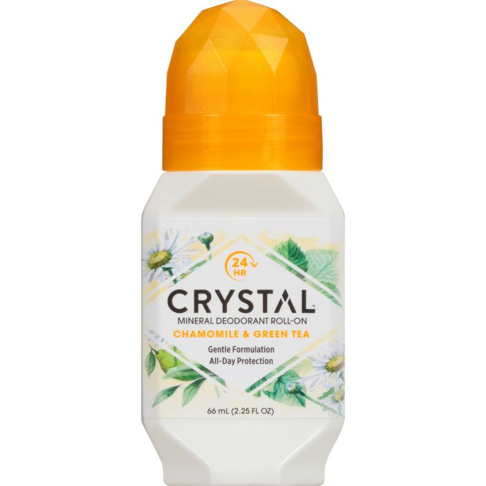 Crystal Mineral Deodorant Roll On Chamomile & Green Tea 66ml