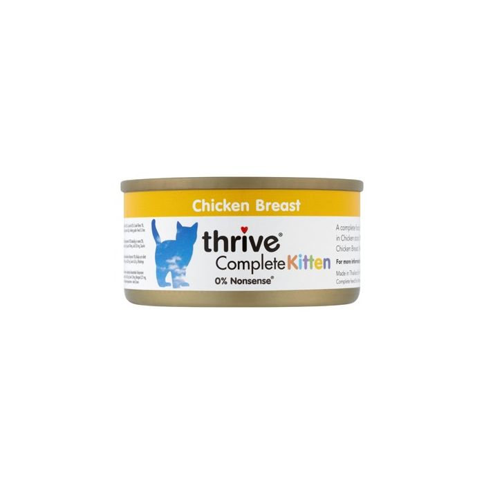 Thrive Complete Kitten Food 100% Chicken 75g