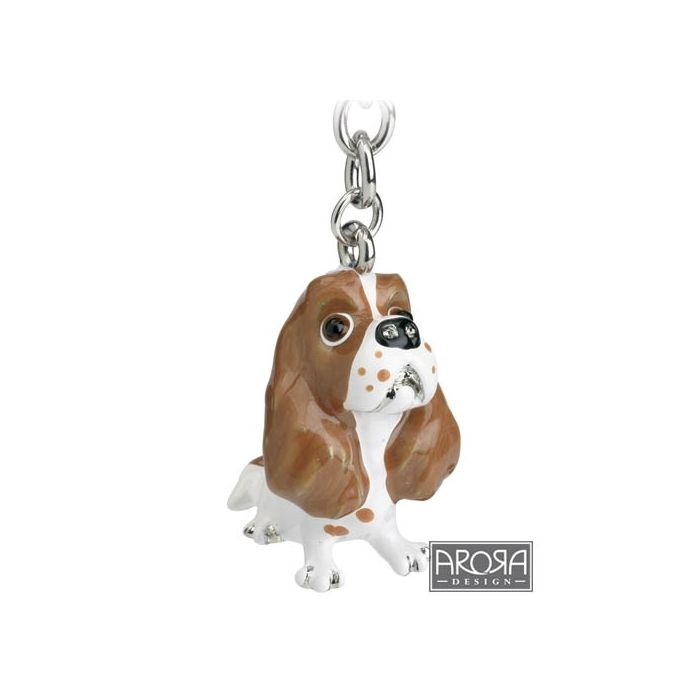 King Charles Spaniel Key Ring/Bag Charm (Blenheim)