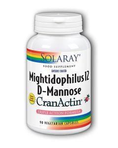 Mightidophilus 12, D-Mannose CranActin 90 Veg Capsules