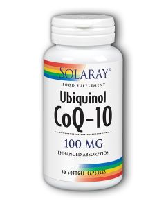 Ubiquinol 100mg 30 softgel caps
