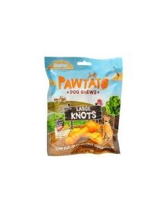 Pawtato Dog Chews Large Knots 180g