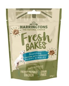 Fresh Bakes Chicken With Yoghurt Puppy Nibbles 100g