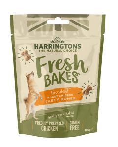 Fresh Bakes Roast Chicken Tasty Bones for Dogs 100g