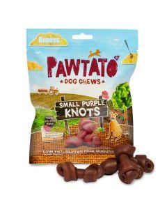 Pawtato Dog Chews Small Purple Knots 150g