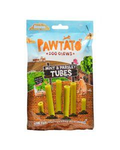 Pawtato Mint & Parsley Tubes Sweet Potato & Rice Dog Chews 90g