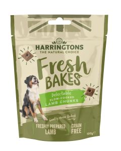 Fresh Bakes Slow Cooked Lamb Chunks for Dogs 100g