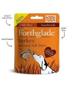 Natural Soft Bite treats for Dogs with Turkey 90g
