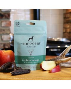 Venison Sausages with Chopped Apple Luxury Treats for Dogs 7 pieces