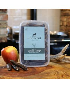 Venison Sausages with Chopped Apple Luxury Treats for Dogs 600g