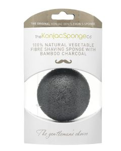 100% Natural Konjac Vegetable Fibre with Bamboo Charcoal - Shaving Sponge