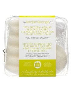 100% Natural Konjac Vegetable Fibre - Cleansing & Exfoliating Luxury Sponge Pack