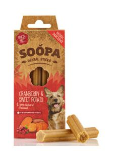 Dental Sticks Cranberry & Sweet Potato with Flaxseed 4 Pack