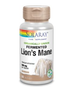 Organically Grown Fermented Lions Mane Mushroom 500mg
