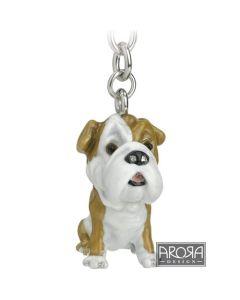 Bull Dog Key Ring/Bag Charm
