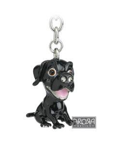 Black Labrador Key Ring/Bag Charm