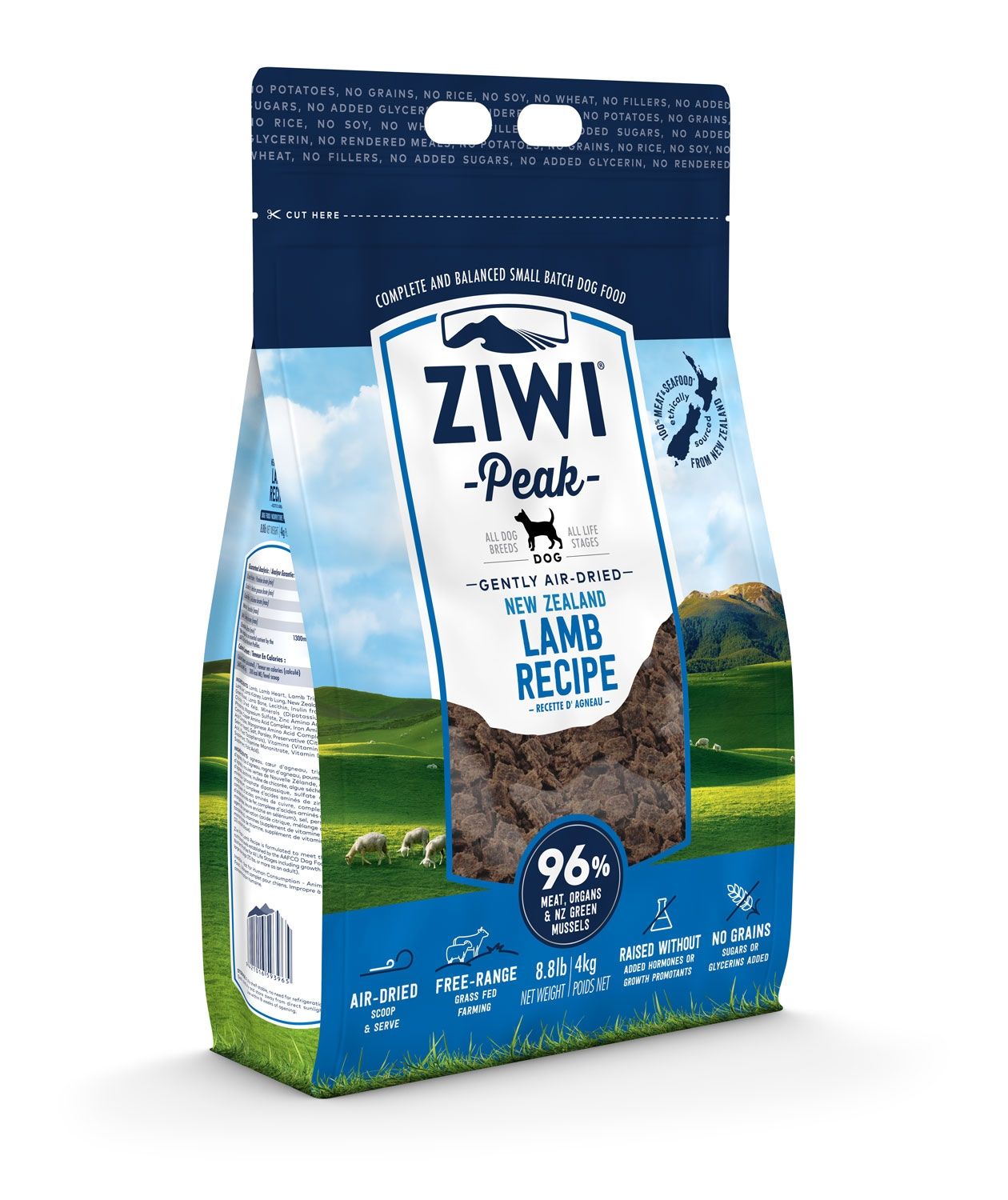 thumbnail 3 - Ziwi Peak Air-Dried Lamb Food For Dogs single protein allergies real meat